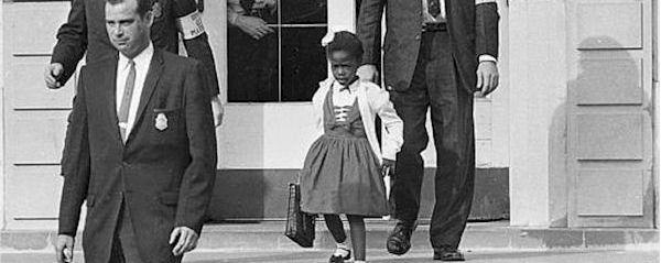 US Marshals Service, After a Federal court ordered the desegregation of schools in the South, U.S. Marshals escorted a young Black girl, Ruby Bridges, to school.